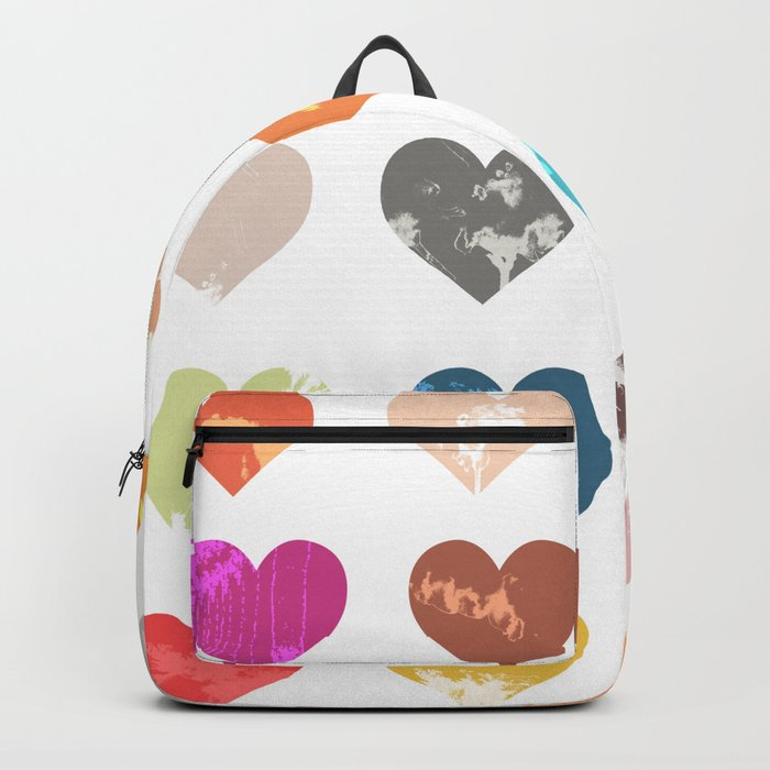 Colorful love pattern Backpack