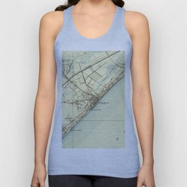 Vintage Map of Myrtle Beach South Carolina (1940) Unisex Tank Top