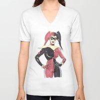 harley quinn V-neck T-shirts featuring Harley Quinn by isintokol