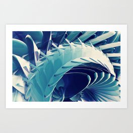 Space Abstract  Art Print