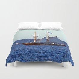 Quebec Sailboat Duvet Cover