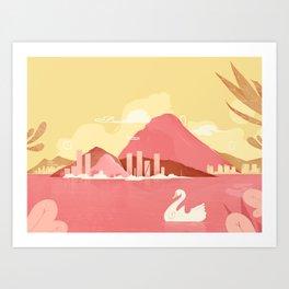 Lagoa Art Print