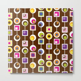 Mod Love Chocolate Metal Print