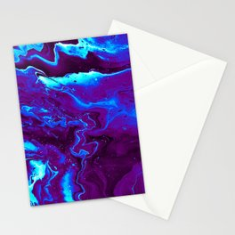 Amazing Liquid Abstract Paint Pattern Stationery Cards
