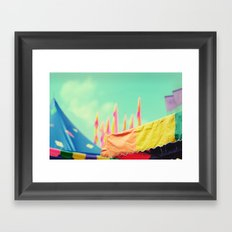 Carnival canvas colors Framed Art Print
