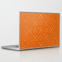 orange pattern Laptop & iPad Skins featuring Orange Pattern by White Wolf Wizard