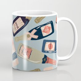 French Champagne Collection – Navy & Coral Coffee Mug