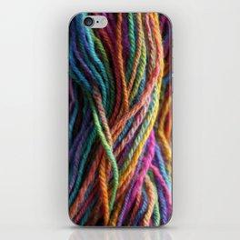 Rainbow Multi-color Handspun Yarn iPhone Skin