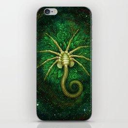 Facehugger (green) iPhone Skin