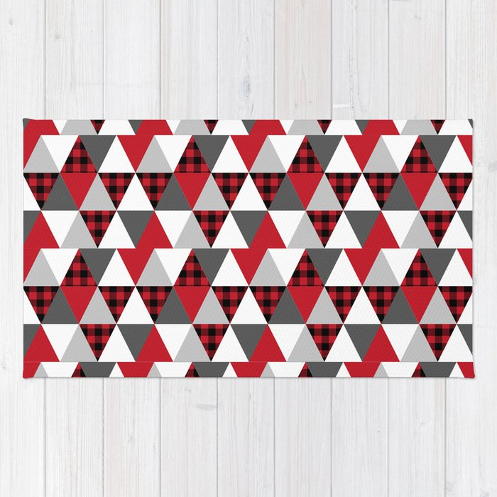 Red And White Checkered Rug: Red And White Buffalo Check Rug