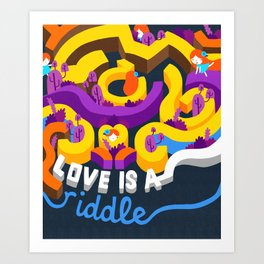 Love is a riddle. Art Print