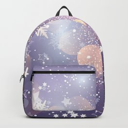 Decorative Christmas Card With Bokeh Lights Backpack