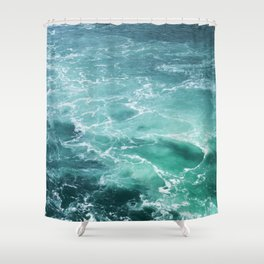 Sea Waves | Seascape Photography | Water | Ocean | Beach | Aerial Photography Shower Curtain