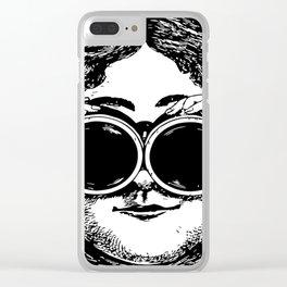 """Wonder World"" - Lady with Binoculars Clear iPhone Case"