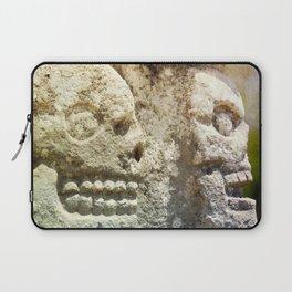 Mayan Stone Skulls Laptop Sleeve