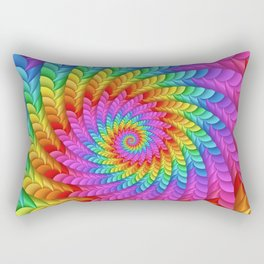 Psychedelic Rainbow Spiral  Rectangular Pillow