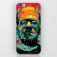 frankenstein iPhone & iPod Skins featuring Frankenstein by nicebleed