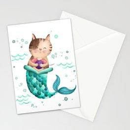 Purrmaid Illustration Stationery Cards