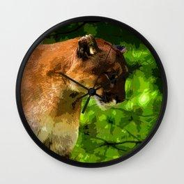 Cougar Mountain Lion Wall Clock