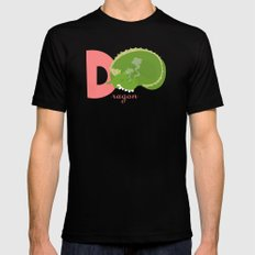 d for dragon Black MEDIUM Mens Fitted Tee