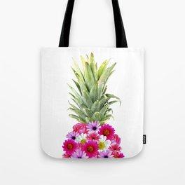 Pineapple Flowers Tote Bag