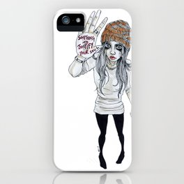 """Something to justify your soul"" iPhone Case"