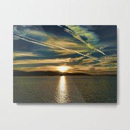 THE SUNDOWN SEA Metal Print