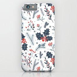 Winter flora iPhone Case