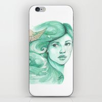 ships iPhone & iPod Skins featuring Paper ships by Pendientera