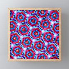 Synapse Pattern Framed Mini Art Print