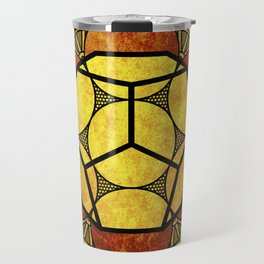 Sacred Geometry for your daily life -  Platonic Solids - ETHER COLOR Travel Mug