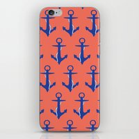 anchors iPhone & iPod Skins featuring Anchors by Maria Tanygina