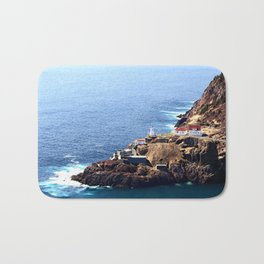 Newfoundland Canadian National Historical Site Fort Amherst and WWII bunkers Bath Mat