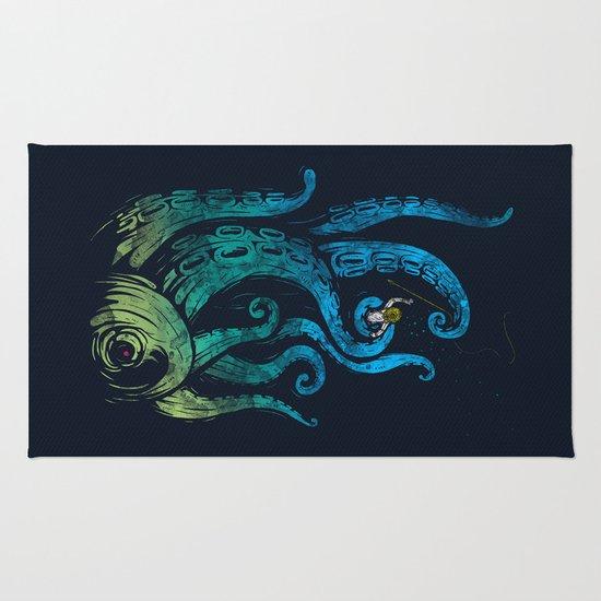 Undersea attack (neon ver.) Rug