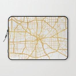 DALLAS TEXAS CITY STREET MAP ART Laptop Sleeve