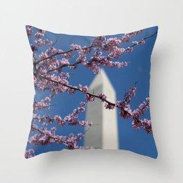 Spring in Washington, DC Throw Pillow