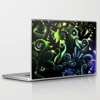 duvet cover Laptop & iPad Skins featuring LONELY FOREST DUVET COVER by aztosaha