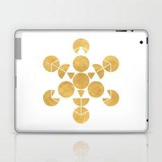 ICOSAHEDRON FRUIT OF LIFE minimal sacred geometry Laptop & iPad Skin
