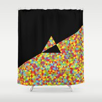 dark side of the moon Shower Curtains featuring The Dark Side Of The Moon by Carlo Spaziani