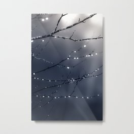 DARK BLUE FOREST Metal Print
