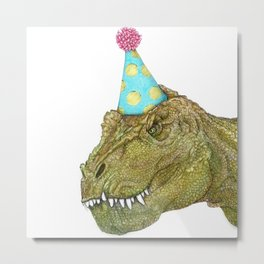 Party Dinosaur II Metal Print