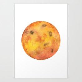 Venus Planet Watercolor Painting Art Print