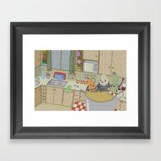 Vegetable Soup Framed Art Print