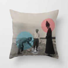 Blue wins Red stays in White is out Throw Pillow