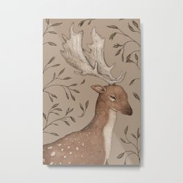 The Fallow Deer and Oats Metal Print