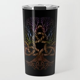 Colorful Tree of life with Triquetra Travel Mug