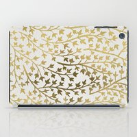 fabric iPad Cases featuring Gold Ivy by Cat Coquillette
