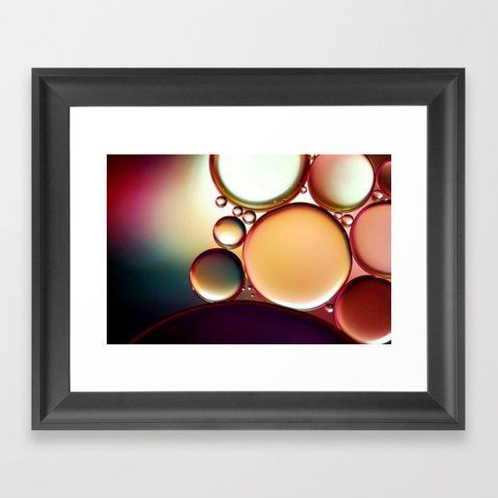Oil On Water Colourful Framed Art Print