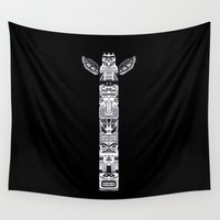 totem Wall Tapestries featuring The Totem by Barruf