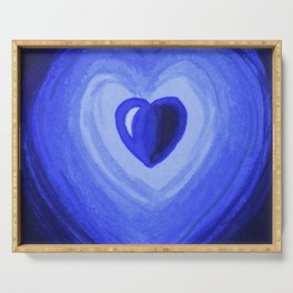 Blue heart Serving Tray
